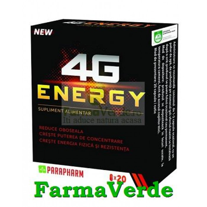 4G ENERGY 2 capsule Quantum Pharm Parapharm