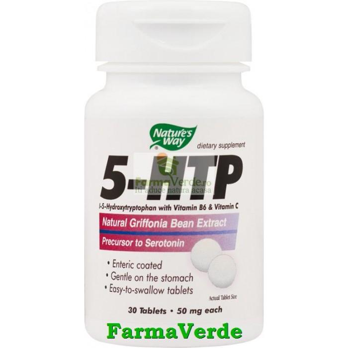 5-HTP Substanta Fericirii 30 Tablete Nature's Way Secom