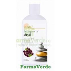 Acai Suc Organic Antioxidant,Cure de Slabire 946 ml Alevia