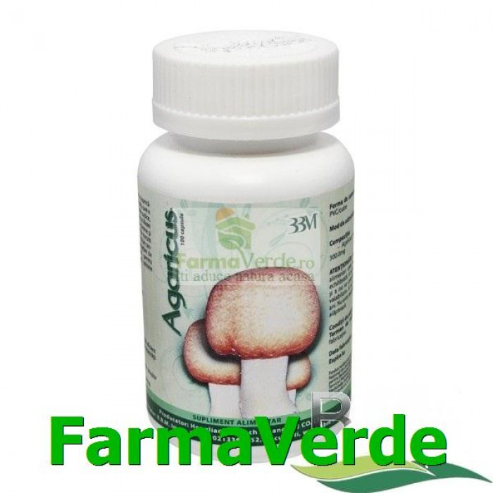 Agaricus Ciuperca cu efect antitumoral 100 capsule BBM