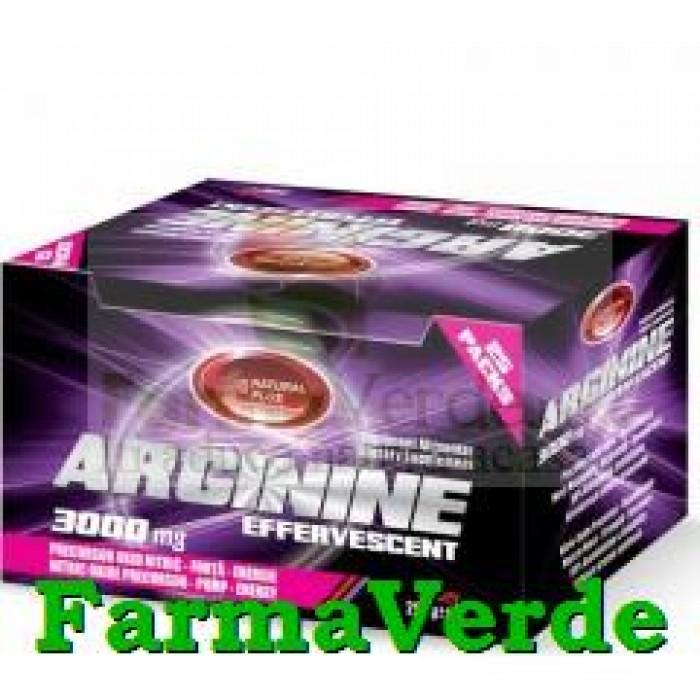 Arginina 3000 mg Efervescenta Cirese 25 doze Natural Plus