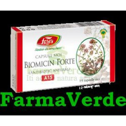 BIOMICIN FORTE Antibiotic Natural 15 capsule Fares Orastie