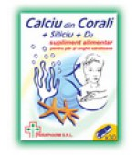 Calciu din corali + Siliciu + D3 30 cps Quantum Pharm