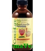 Cod Liver Oil ChildLife Ulei de Cod 237ml Rahitism Copii Secom
