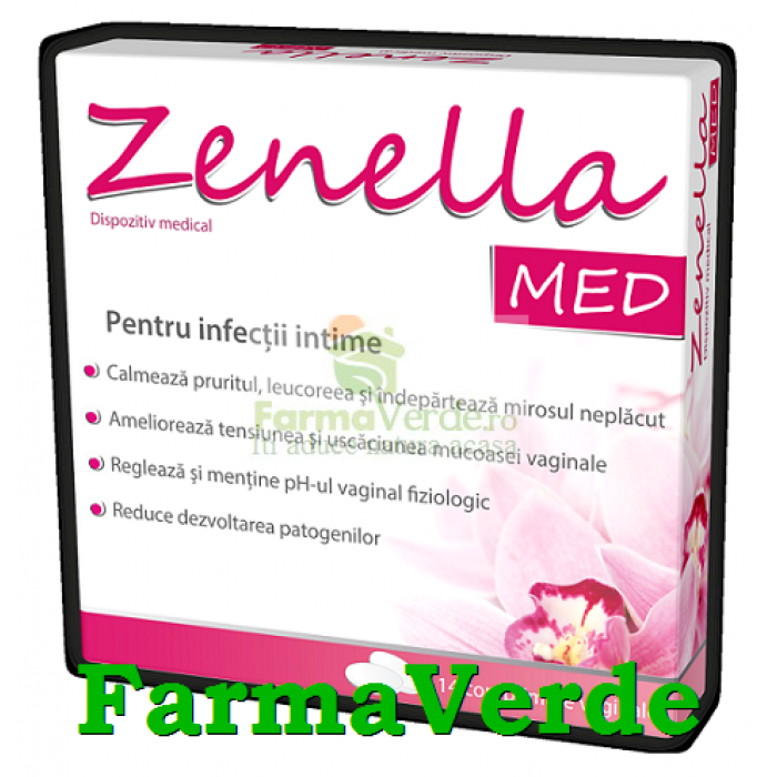 Zenella MED impotriva infectiilor intime 14 comprimate Zdrovit