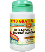 PROMO!Acid Alfa Lipoic cu Biotina si Crom 30+10 capsule GRATIS!