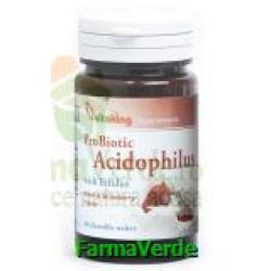Acidophilus Capsuni 60 comprimate masticabile Vitaking
