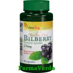 Afin negru 470mg Bilberry 90 capsule Vitaking