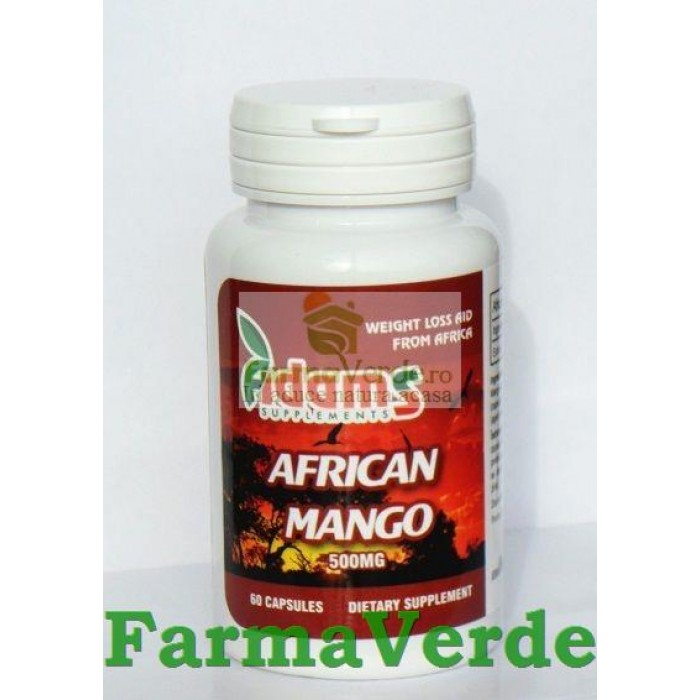 African Mango 500mg 60 capsule Adams Vision