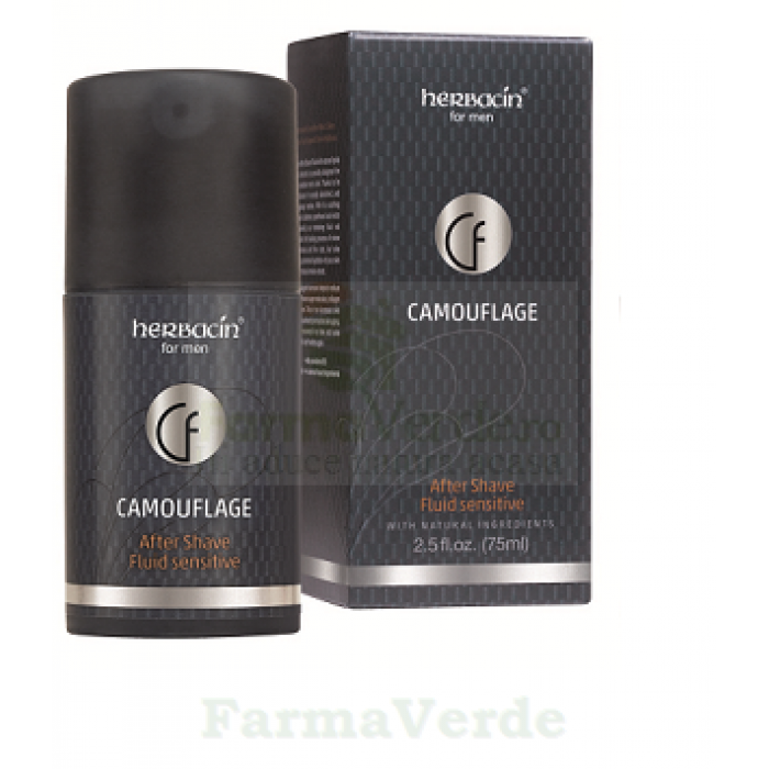 After Shave fluid ten sensibil 75 ML Camouflage Herbacin