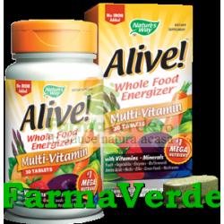 Alive !(Fara Fier) 133 ingrediente 30Tb Multivitamine Secom