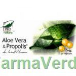 Aloe Vera & Propolis Regleaza Tranzitul 30 capsule Medica