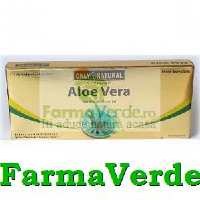 Aloe Vera 10 fiole 10ml 1000mg Only Natural