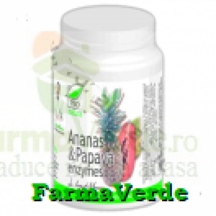 Ananas & Papaya enzymes 60 comprimate ProNatura Medica