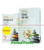 Promotie! Antigripal 20 cpr + Ceai de tei 20 plicuri Alevia