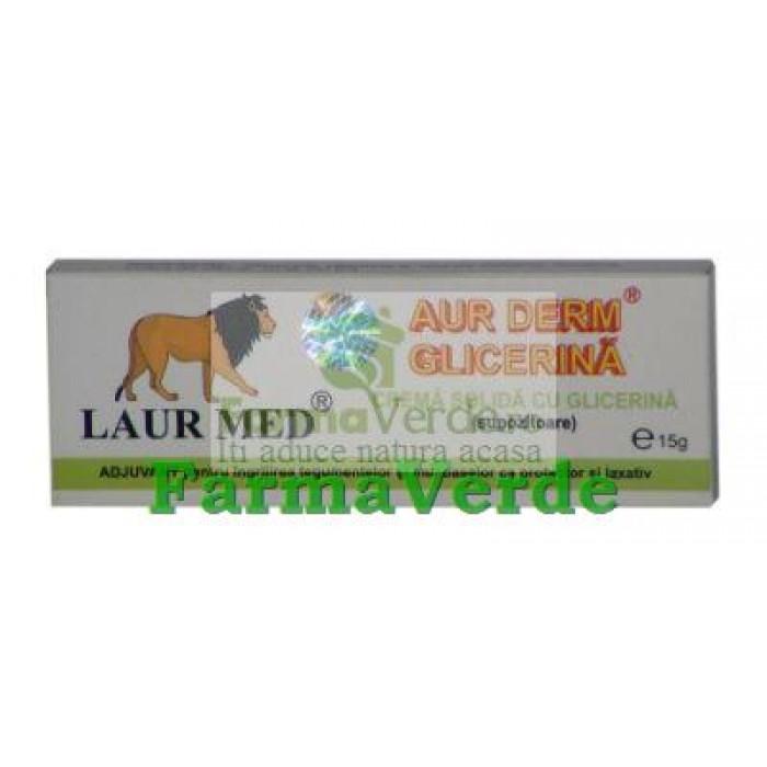 Aur Derm Supozitoare cu Glicerina si Conifere 10 buc Laur Med