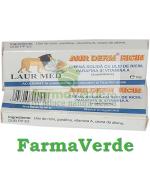 Aur Derm Supozitoare cu Ulei de Ricin Parafina 1,5 gr Laur Med