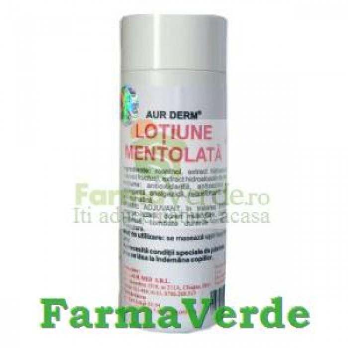 Aur Derm Lotiune Mentolata, Ardei si Conifere 100 ml Laur Med