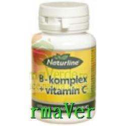 B-Complex + Vitamina C 30 cpr Naturline Walmark