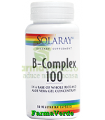 B-Complex 100mg 50 capsule Solaray Secom