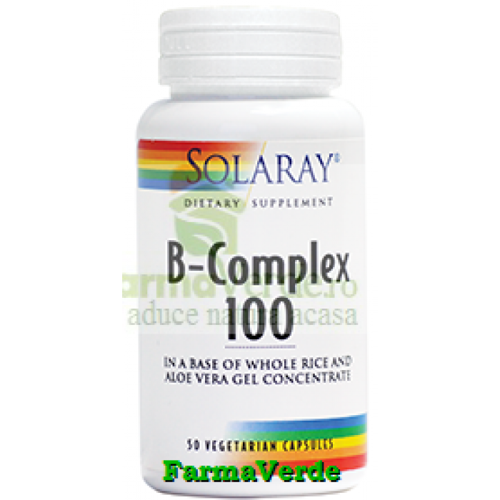 B-Complex 100mg 50 capsule Solaray Secom