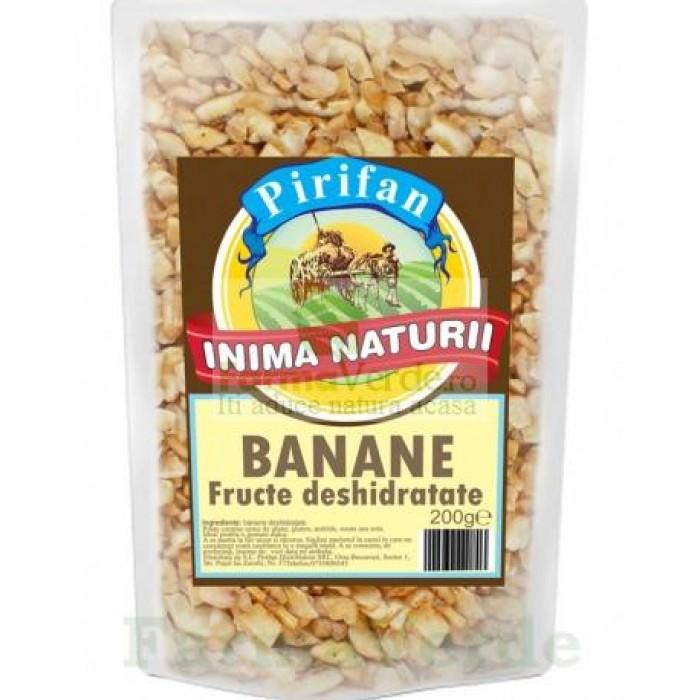 Banane chips deshidratate Fructe Uscate 200 gr Pirifan