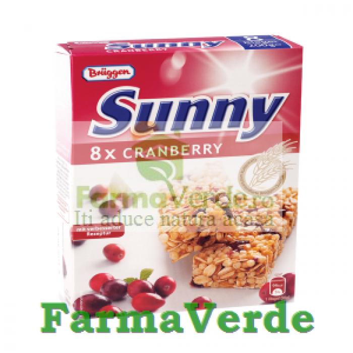 Batoane Bruggen Cereale cu Merisor 8 bucati SanoVita