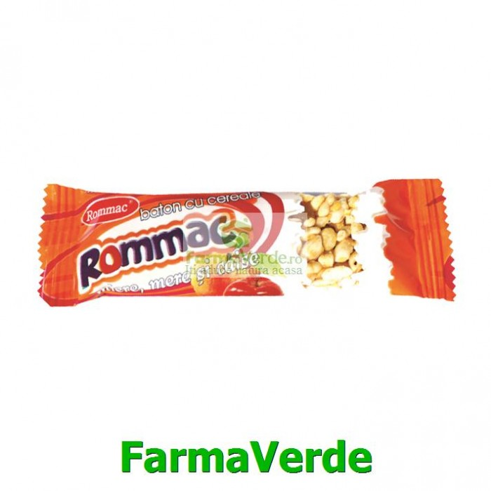 Baton de Cereale cu Mere,Miere si Caise 20gr Rommac Trade