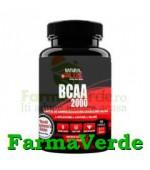 BCAA 2000 Crestere Masa Musculara 100 capsule Natural Plus
