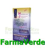 Benzi depilatoare ceara naturala 14buc+2 servetele Farmec