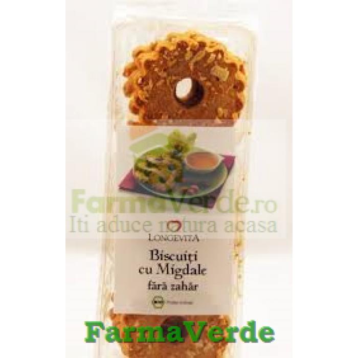 Biscuiti BIO cu Migdale Fara Zahar 125gr Longevita Solaris Plant
