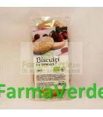 Biscuiti BIO cu crema de zmeura 175gr Longevita Solaris Plant