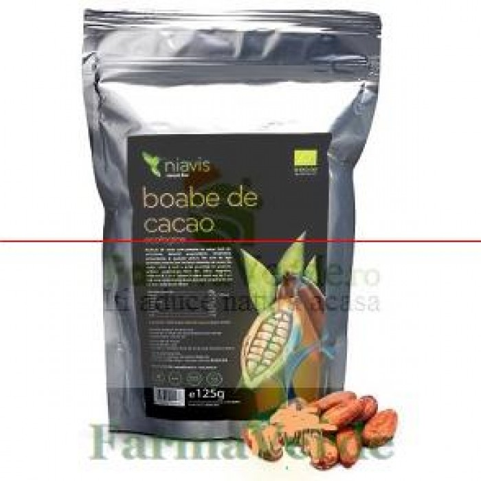 Boabe De Cacao Intregi Organice/BIO Criollo 125 gr Niavis