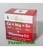 CA+MG+ZN+VITAMINA D3 - 20 plicuri Remedia