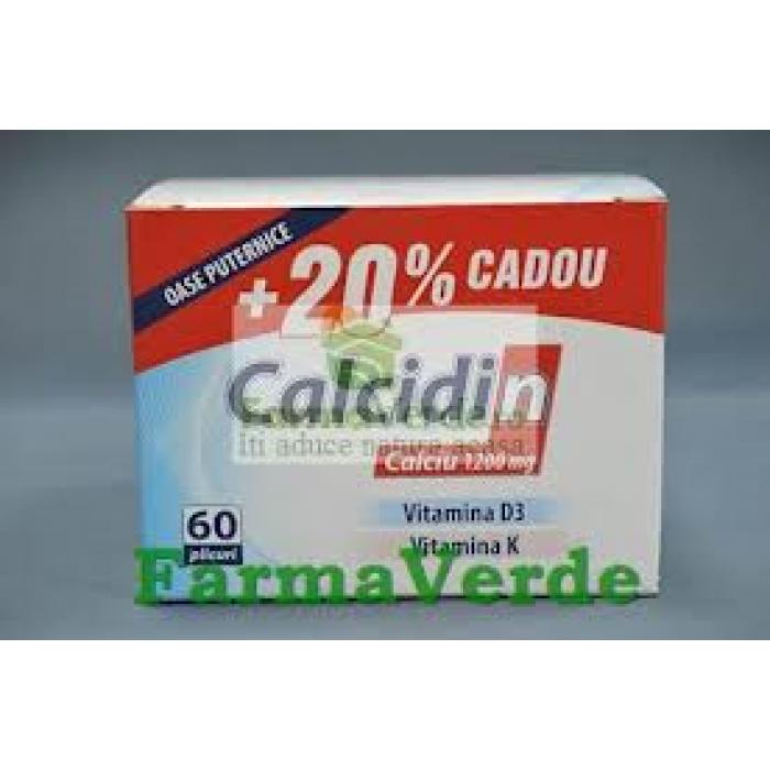 Zdrovit Calcidin 1200 mg Osteoporoza 60 doze+20%CADOU!