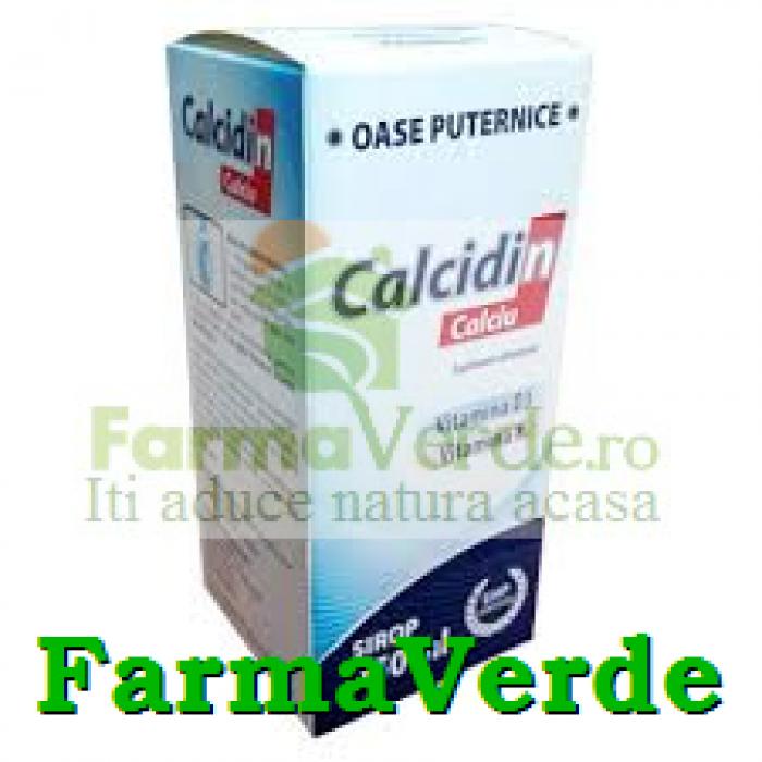 Zdrovit Calcidin Sirop cu calciu vitamina K si D3 250 ml