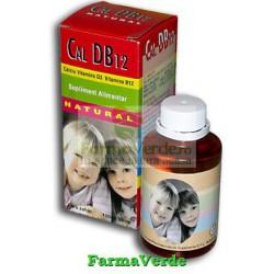 CALCIU D3 B12 Natural Sirop Fara Zahar 100ml Natural