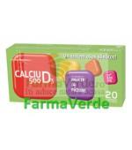 Biofarm Calciu 500 mg cu vitamina D3 diverse arome 20 cpr