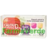 Biofarm Calciu 250 mg cu vitamina D3 diverse arome - 20 cpr