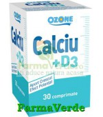 Calciu + Vitamina D3 30 Cpr Ozone Labormed