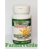 Calciu-D3-K1 30 tablete Adams Vision