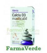 Calciu D3 Mesticabil 30Cpr Alevia Aroma Portocala