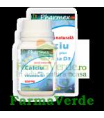 CALCIU 500mg CU VITAMINA D3 30 comprimate Pharmex