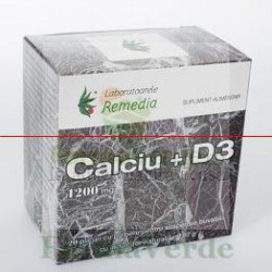 CALCIU 1200mg + D3 20 plicuri Remedia