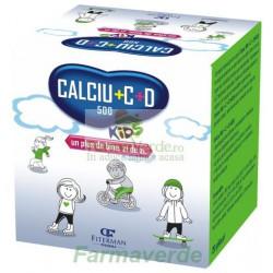Calciu 500 mg + C + D KIDS 20 plicuri Copii Fiterman Pharma