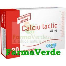 Calciu Lactic 20 Cpr Ozone Labormed