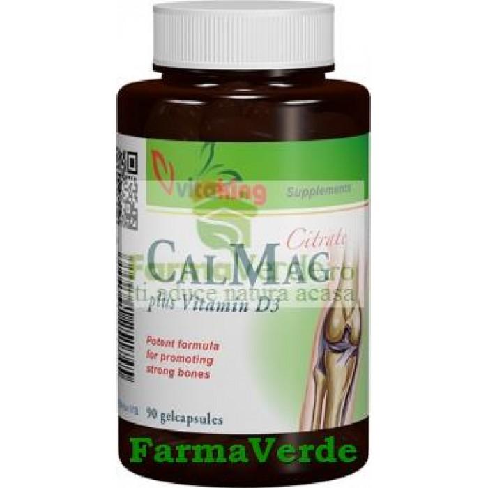 Citrat de Calciu Magneziu cu vitamina D 90 cps Vitaking