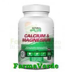 Calciu & Magneziu 100 comprimate Natural Plus