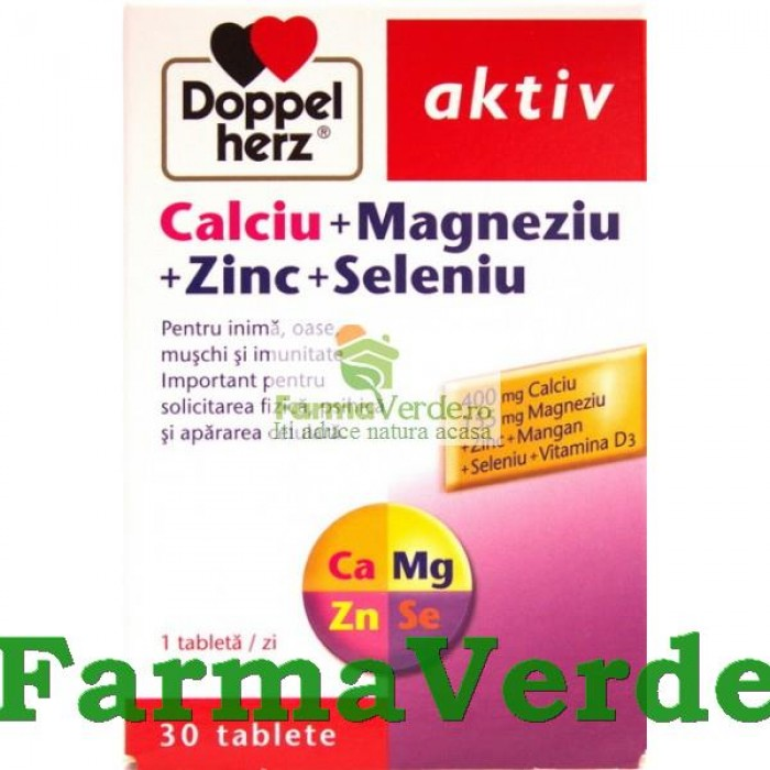 Doppelhertz Aktiv CA+MG+ZN+SE 30 tablete