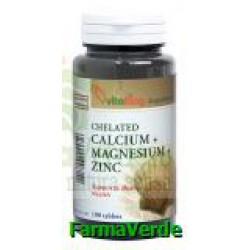 Calciu Magneziu cu Zinc 100 comprimate Vitaking